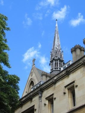 Tower of Exeter College, where Lewis and Tolkien studied in the new English Literature department after WWI
