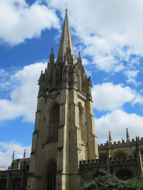 Tower of University Church, where Lewis attended and delivered some of his theological lectures