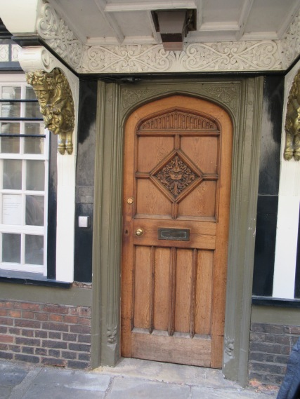 The story goes that Lewis's character of Aslan in the Chronicles of Narnia was inspired by the lion on this door, which Lewis passed on his way home from a pub