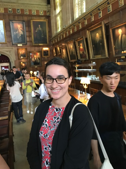 Laura in the Great Hall at Christ Church - AKA inspiration for the Great Hall at Hogwarts!