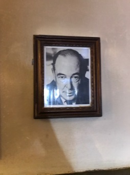 C. S. Lewis's picture in the Rabbit Room of the Eagle and Child
