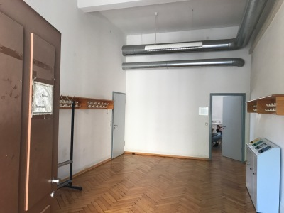 hall outside classrooms