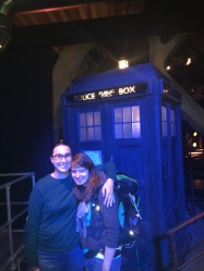 Laura & Katharine with The Tardis!
