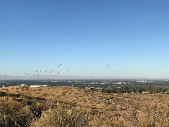 hot air balloons from the hills on a recent run