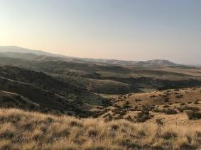 hills from a run